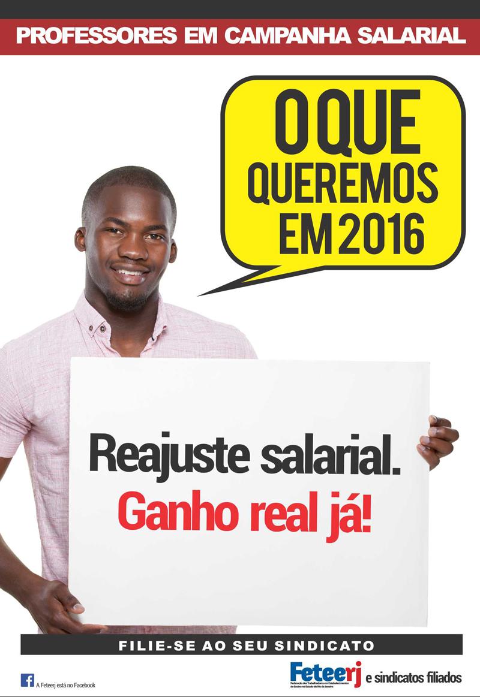 Campanha Salarial 2016 da Feteerj e Sindicatos Filiados