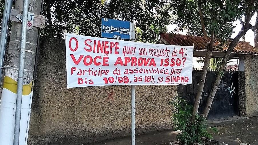 Sinpro Campos e São João da Barra faz campanha salarial, com assembleia nessa quinta