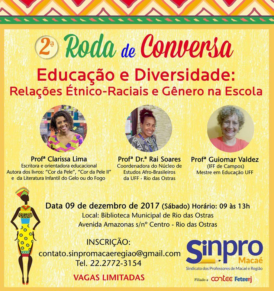 Sinpro Macaé realiza Roda de Conversa sobre Educação e Diversidade