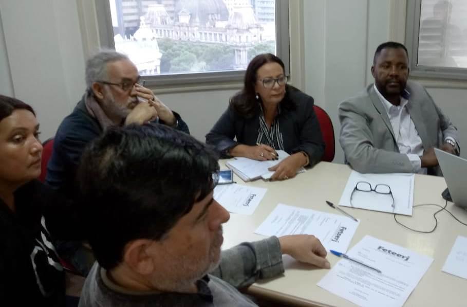 Diretoria da Feteerj se reúne e discute contrapropostas para a Convenção Coletiva 2018 com o Sinepe
