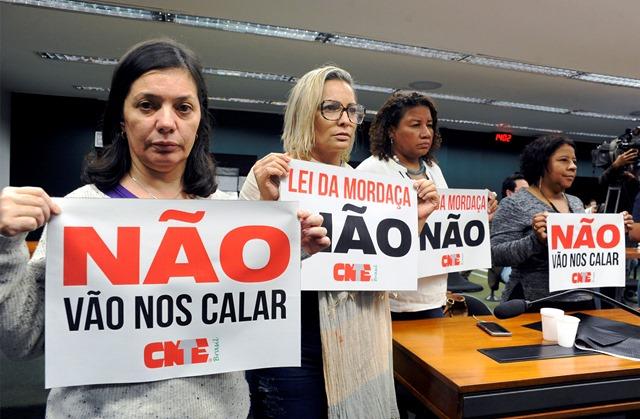'Escola sem Partido' avança na Câmara – magistério tem que se mobilizar contra aprovação do projeto