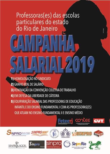 Campanha Salarial 2019 dos professores das escolas particulares do estado do Rio de Janeiro