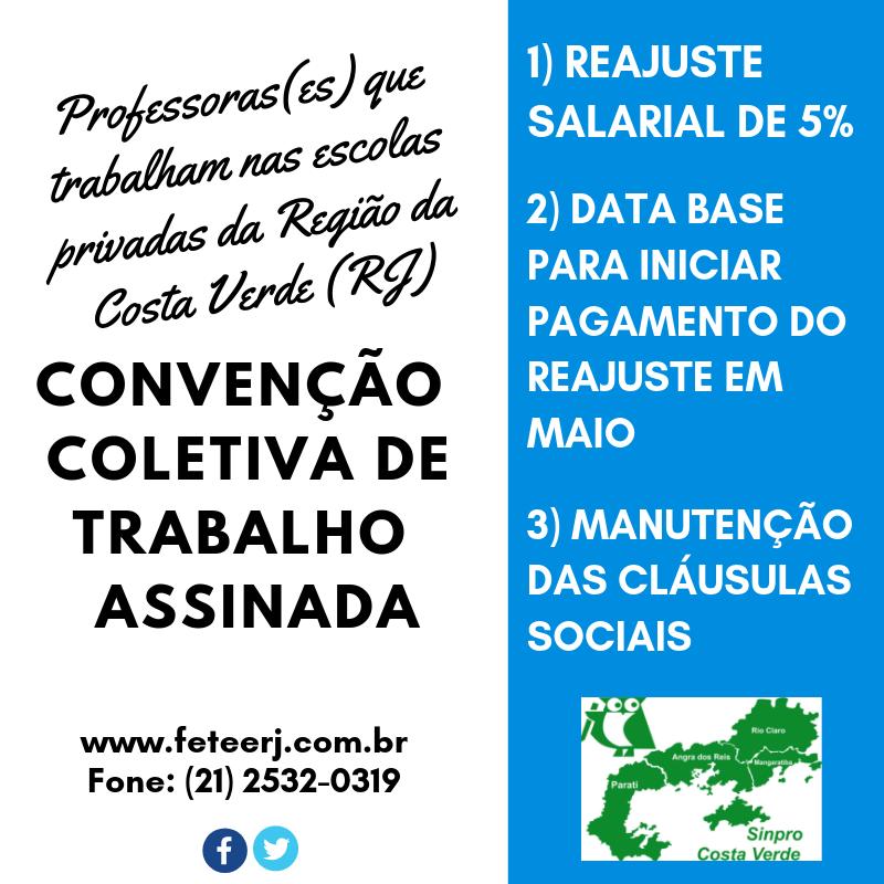 PROFESSORES DA REGIÃO DA COSTA VERDE TAMBÉM ESTÃO REPRESENTADOS NA CCT 2019/2020